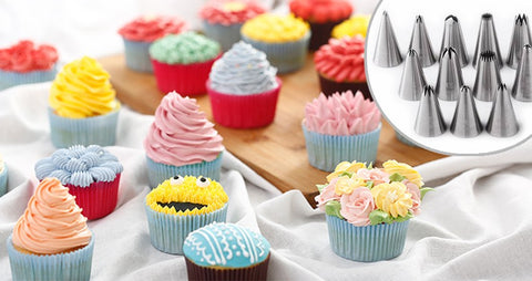 Russian Tulip Icing Piping Nozzles Korean Style Pastry Tips for DIY Cake Decoration 56pc