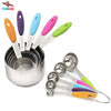 10 Piece Professional Grade Stainless Steel Measuring Cups and Spoons Set
