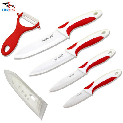 "FINDKING knives nice touch handle kitchen knife set Ceramic Knife 3"" 4"" 5"" 6"" inch"
