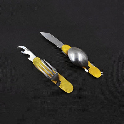 Outdoor Tableware Camping Folding Spoon Fork Knife Set