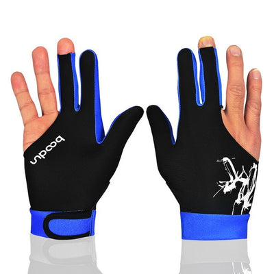 Cue Billiard Pool Shooters 3 Fingers Gloves 5 colors