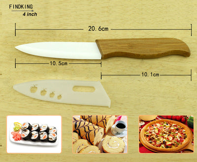 "FINDKING knives Ceramic knife kitchen tools 3"" 4"" 5"" 6 "" inch +Covers"