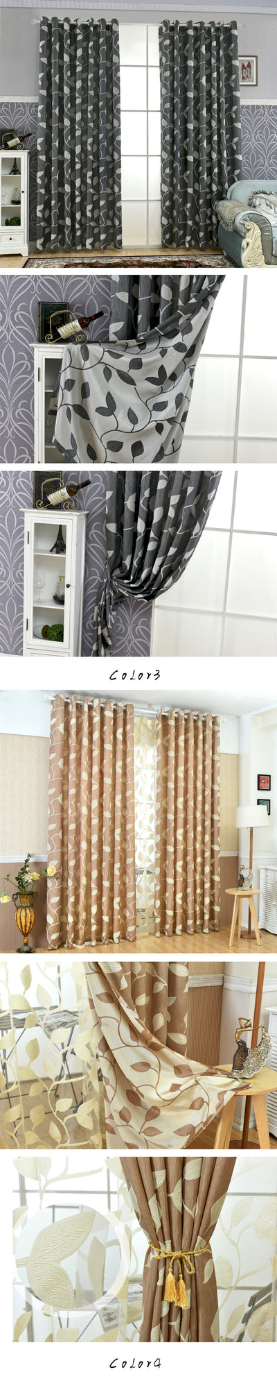 NAPEARL European jacquard curtains kitchen door balcony curtains fabrics for window