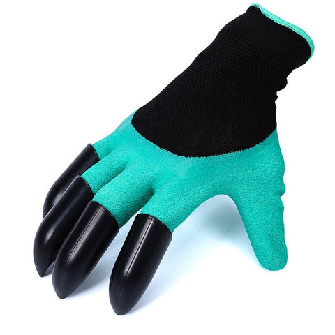 gardening gloves with with 4 ABS Plastic Claws