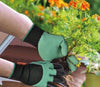 Image of gardening gloves with with 4 ABS Plastic Claws
