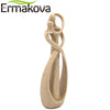 Sandstone Abstract Art Kiss Couple Statue Lovers Figurine Natural Sandstone Crafts