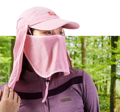 Naturehike Outdoor Unisex Men Women Anti-UV Sun Hat with Face Mask