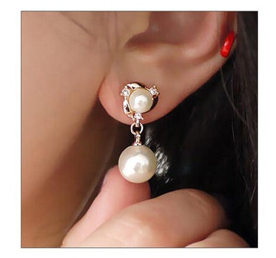 Orecchini Statement Earings Bijoux Brincos Korean Fashion Simulated Pearl Crystal Drop Earrings For Women Jewelry