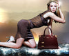 Women Genuine Patent Leather Handbags luxury Shoulder Cross body Bag