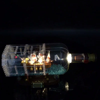 LED Light Kit (only light included) for lego 21313 and  Compatible with 16051 ship in a Bottle Set  (not included)