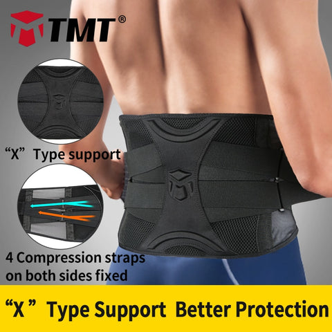 TMT waist trainer fitness weightlifting support 4 springs/5 support belt