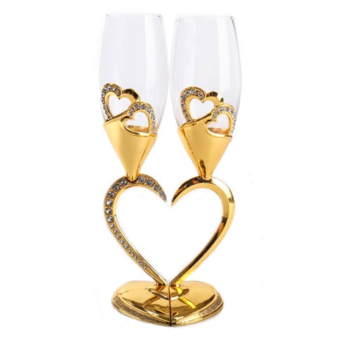 elegant Heart-shaped  Red Wine Glass