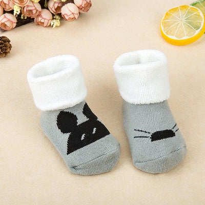 Thick Warm Animal Terry Socks For Children