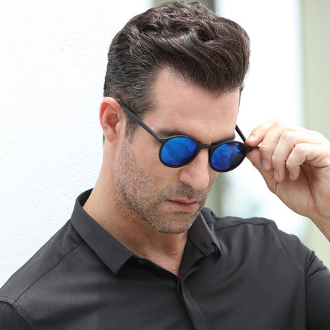 Black|Blue UV400 Protection Polarized Men Sunglasses