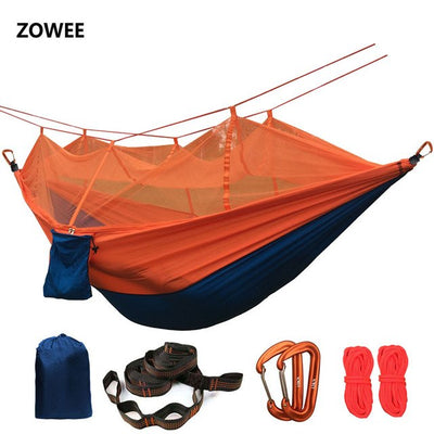 Portable Mosquito net Hammock Double-person Folded Into The Pouch Mosquito Net