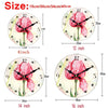Image of MEISTAR Vintage Round Flowers Design Clocks Classic Watches Home Decorations Large Wall Clock