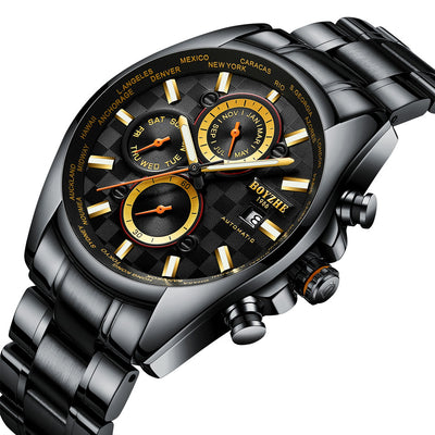 Men Automatic Mechanical Watch Luxury Brand Waterproof