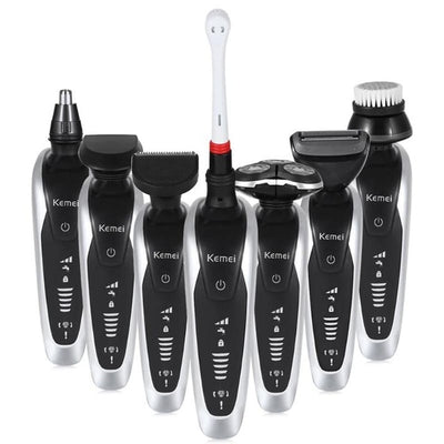 7 in 1 3D Electric Shaver for Men Wireless Beard Trimmer Rechargeable Shaving Machine
