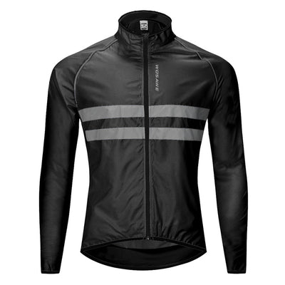 WOSAWE Windproof Cycling Jackets Men Women Riding Waterproof Cycle Clothing Bike Long Sleeve