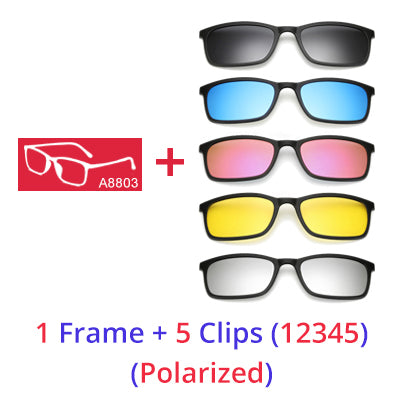 UV400 Anti-Reflective 5 In 1 Polarized Sunglasses