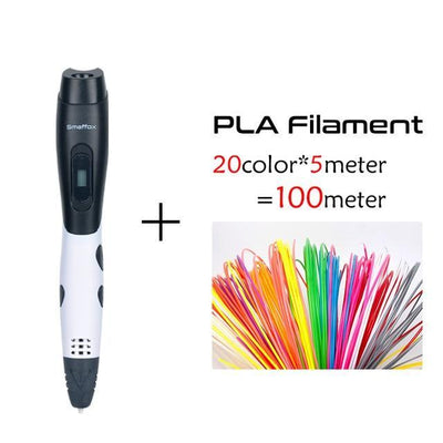3D Pen DIY Drawing Pen LCD Display Printing Pen With Adapter