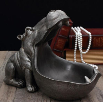 Abstract Hippopotamus Statue Decoration Resin Home Decoration
