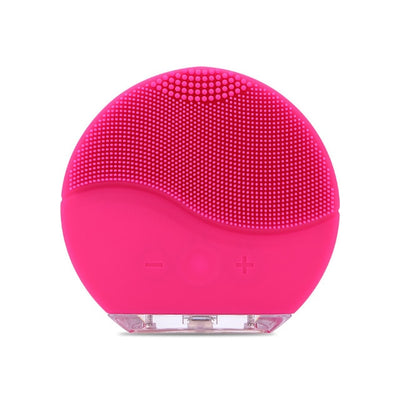 Silicone Sonic Vibration Mini Cleaner Deep Pore Cleaning Skin Massage face brush cleansing