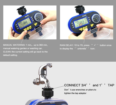 New Two Ports Automatic Garden Water Timers