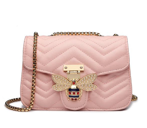 Luxury Handbags PU leather with chain  for Women Bags