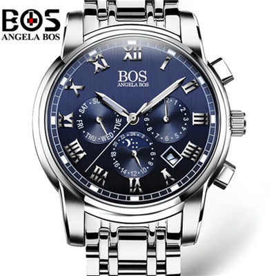 Luxury Brand Week Month Date Watch Men Fashion Luminous Quartz Wrist Watch