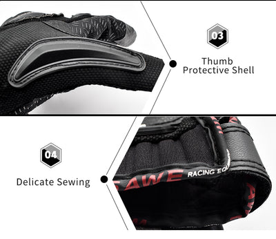 WOSAWE 4pcs/set Adult Sports Motorcycle