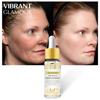 VIBRANT GLAMOUR Gold 24K Face Serum Anti-wrinkle Firming Whitening Essence