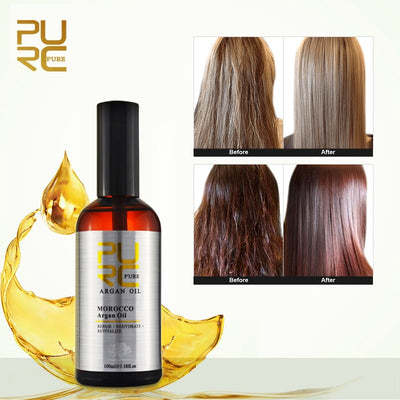 PURC Moroccan argan oil for hair care and protects damaged hair