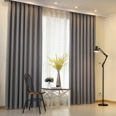 NAPEARL Modern curtain plain solid color blackout full shade living room
