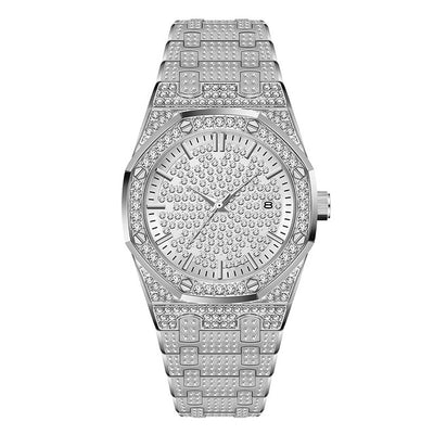 24K Gold plated Luxury Brand Diamond Mens Watches