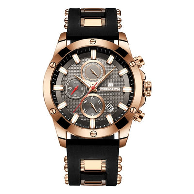 MEGALITH Men Watches Top Brand Luxury Luminous Display Watches