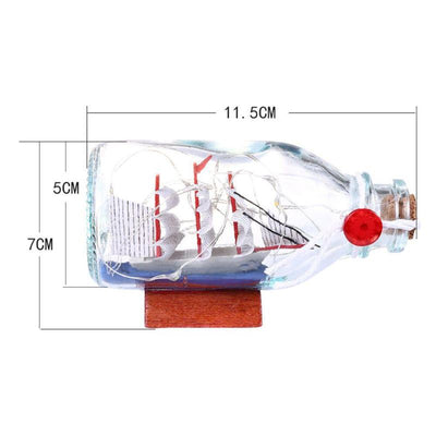 Boat/Ship in a bottle Light LED Night Lamp Glass Home Decor