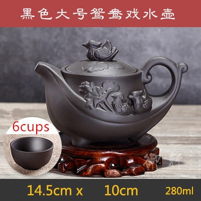 Large Purple Teapot Set Filter Large Capacity Teapot