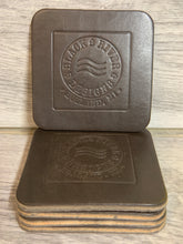 "Load image into Gallery viewer, 4"" Square Leather Coasters"