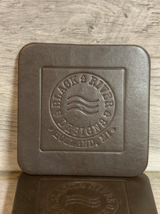 "4"" Square Leather Coasters"