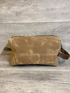 Canvas Leather Dopp Kit