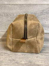 Load image into Gallery viewer, Canvas Leather Dopp Kit