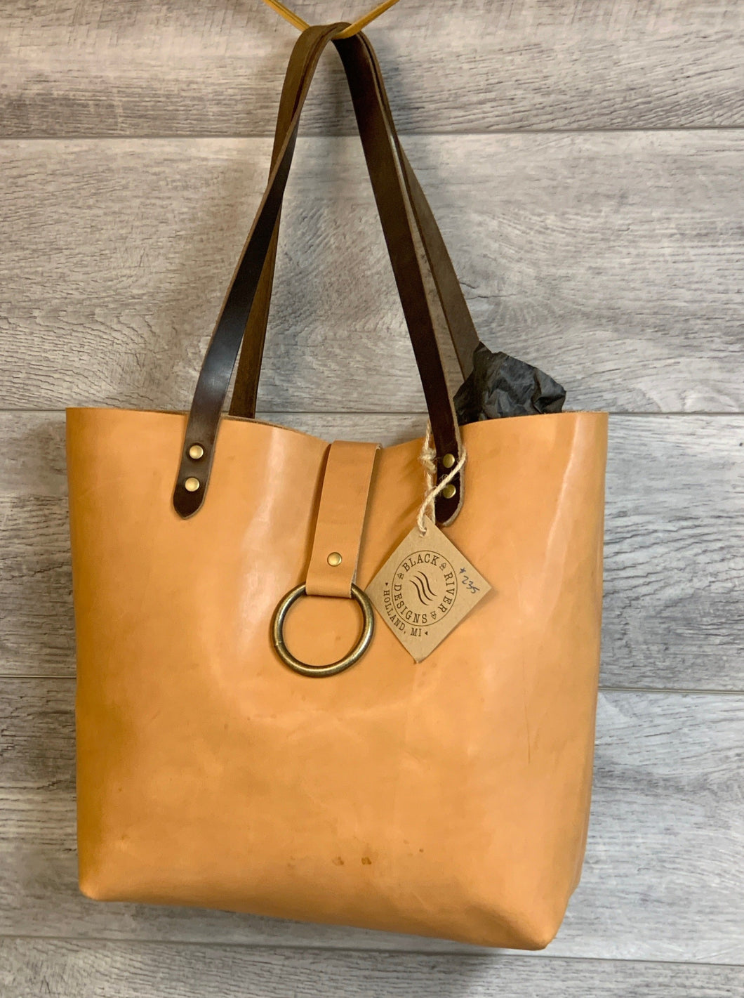 Latigo Leather Ring Tote with Horween Straps