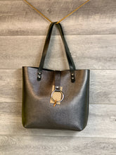 Load image into Gallery viewer, Ring Tote with Pebbled Leather and Horween Handles