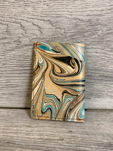 Marbled Acrylic Ink Minimal Wrap Wallet