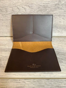 Passport Case Jasper Chrome Leather