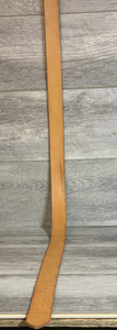 "1 1/2"" Tan Leather Belt with Brass Hardware."