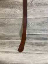 "Load image into Gallery viewer, 1 1/2"" Brown Leather Belt with Silver Hardware."
