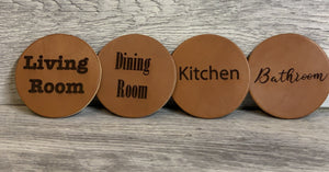 Pub Crawl Leather Coasters Set of 4