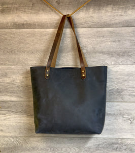 Anna  Jasper Chrome Leather Tote